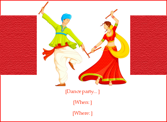 Dandiya Dance Holi Invitation E Card Greeting Eventeve Com