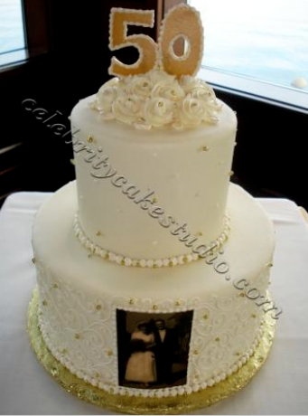 50th anniversary tiered tacoma wa adorable anniversary cakes. Black Bedroom Furniture Sets. Home Design Ideas