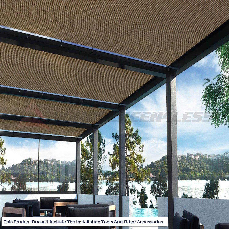 b4b7819f25ab Amazon.com : Windscreen4less Brown Sunblock Shade Cloth, 95% UV Block Shade  Fabric Roll 6ft x 50ft : Patio, Lawn & Garden