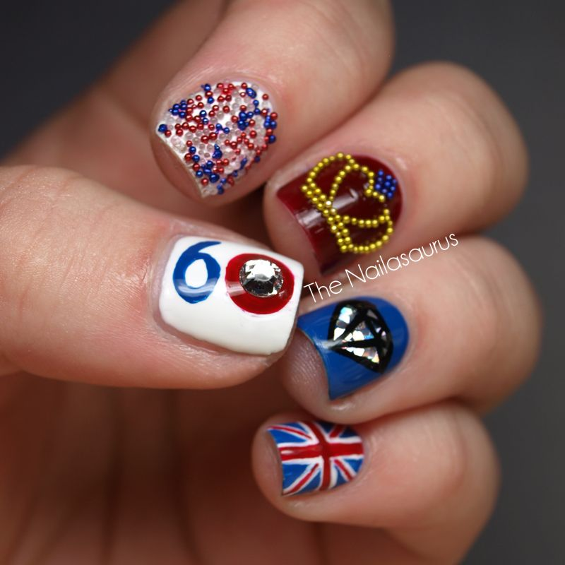 The Nailasaurus: Queen Elizabeth Diamond Jubilee 2012 Nail Art