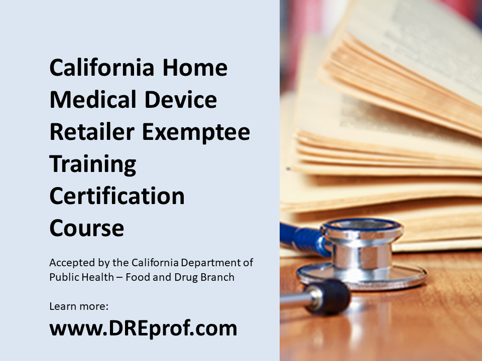 Our California HMDR Exemptee Training Certification Course