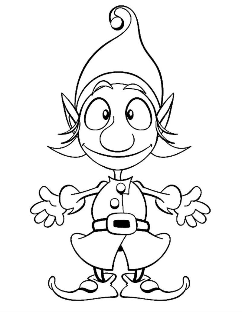 Elf Coloring Pages Printable Christmas coloring pages