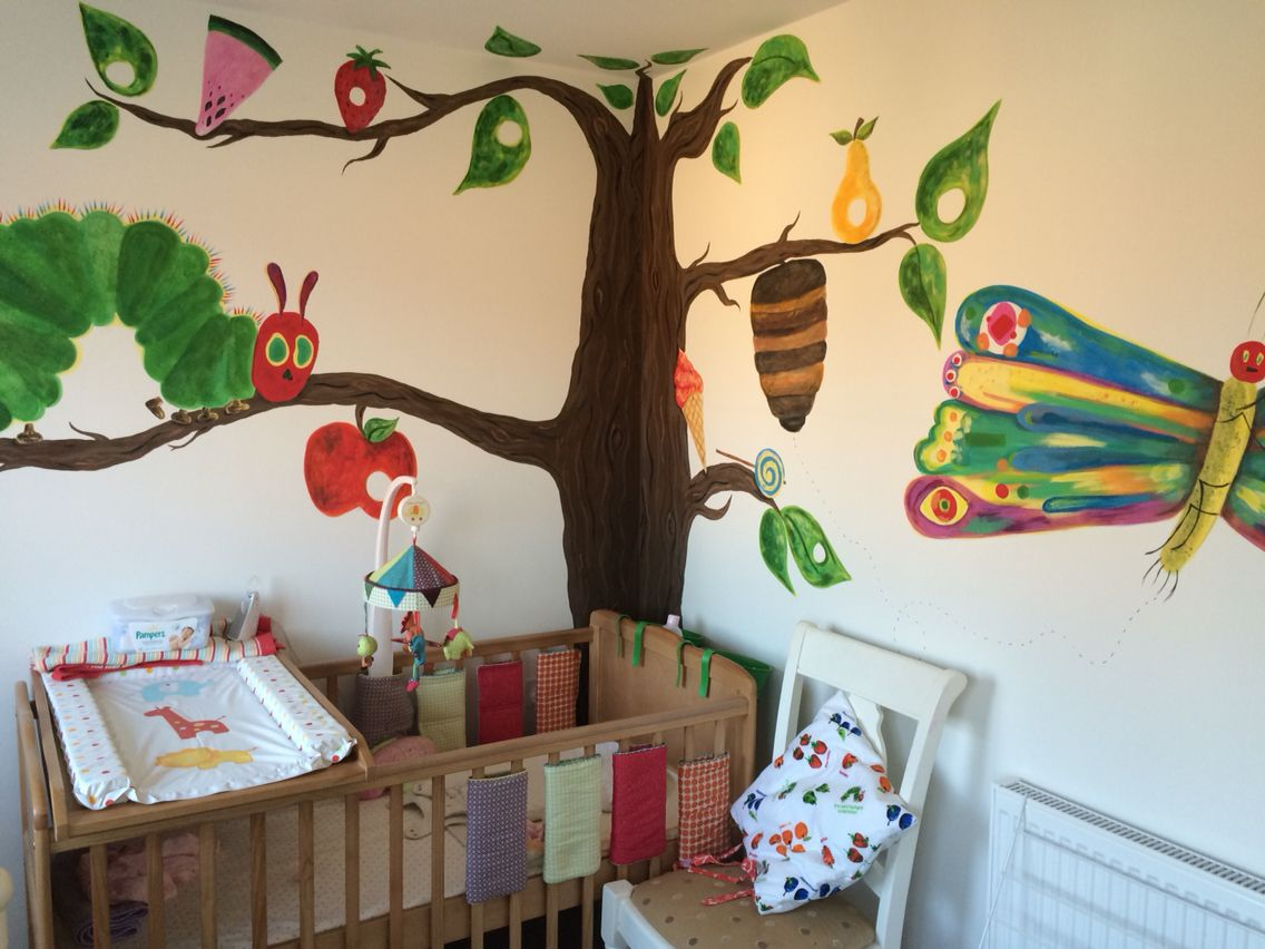 The very hungry caterpillar wall mural school decor for Classroom wall mural