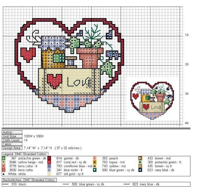 Cross Stitch World: CrossStitch. LOVE