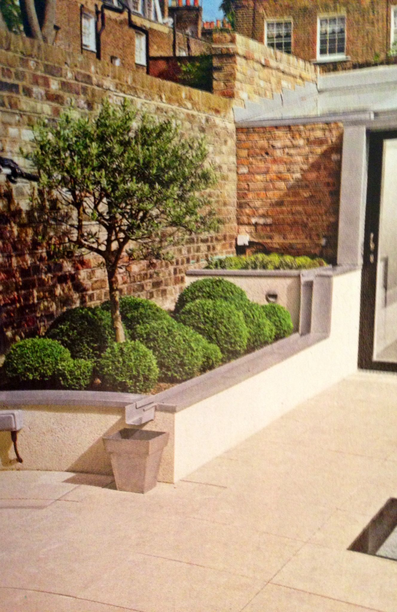 Secret Garden: Rendered Flower Beds, ?could Use Flagstones To Top