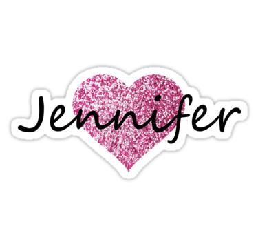 Jennifer Pink Heart Sticker By Obercostyle Pink Heart Jennifer Creative Lettering
