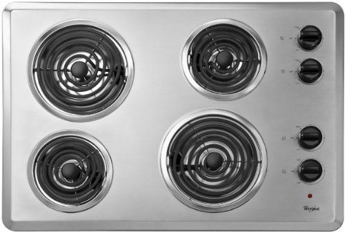 Whirlpool Wcc31430ar 30 Silver Electric Coil Cooktop Whirlpool Wcc31430ar 30 Silver Electric Coil Cooktop Meet All Y Electric Cooktop Cooktop Electric Stove