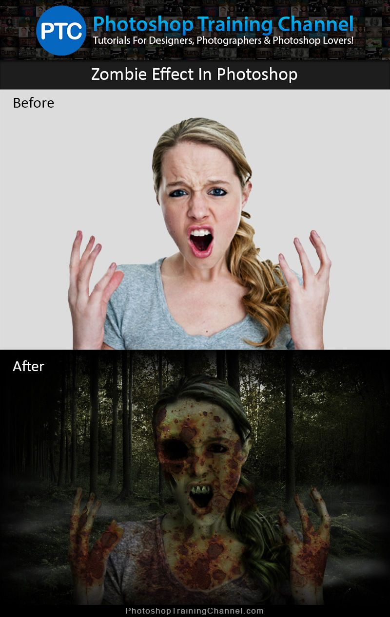 Zombie photoshop tutorial photoshop zombie effect photoshop zombifiying people in photoshop is ridiculously good fun in this tutorial youll baditri Images