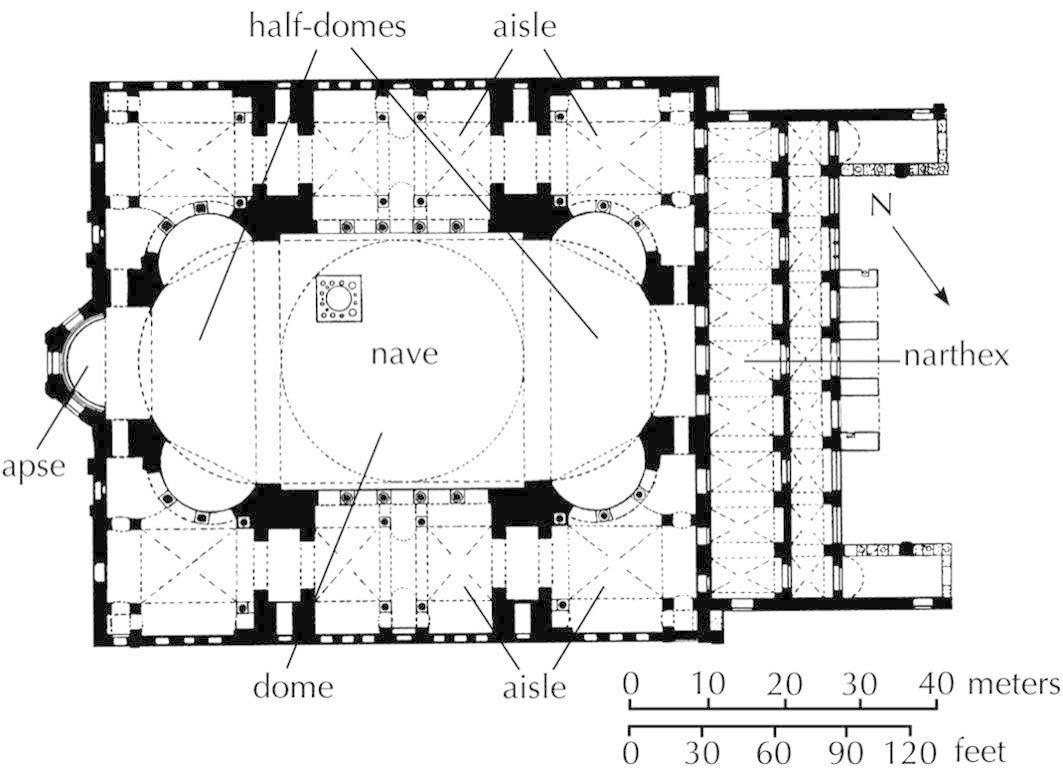 Plan Hagia Sophia Constantinople Istanbul Anthemius Of Tralles And Isidorus Of Miletus 532 53 Hagia Sophia Architecture History Architectural Floor Plans
