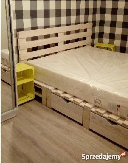 łóżko Na Wzór Palet Nowe Deski 200cm Walce Interiors