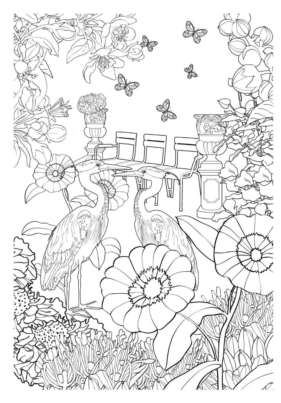 Jardim Encantado Livro De Colorir Antiestresse Na Amazon Com Br