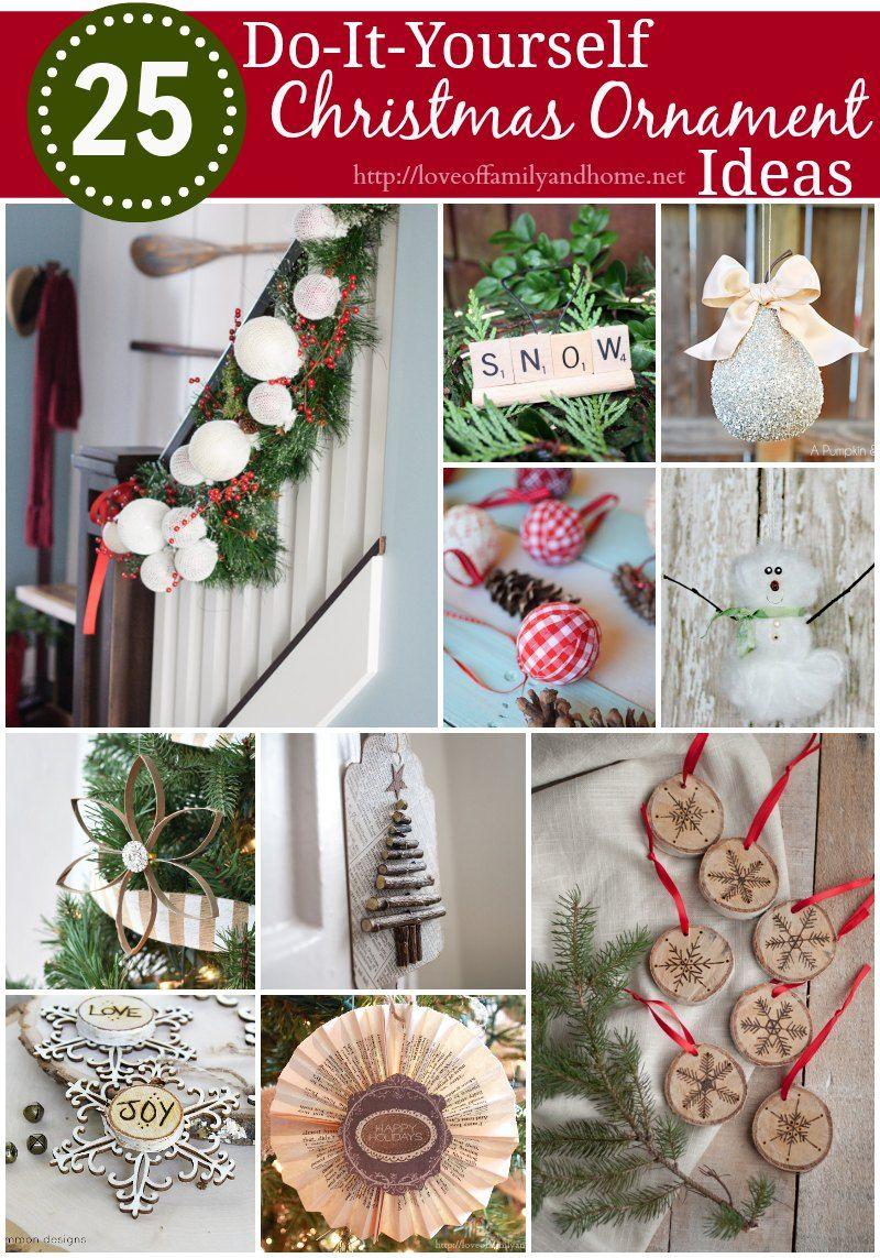 25 DIY Christmas Ornament Ideas Love