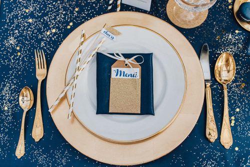 Blau Goldene Hochzeitsdeko Wedding Deko Pinterest