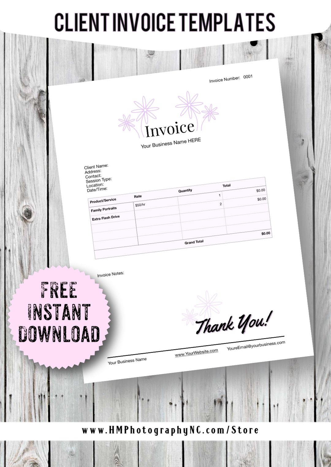 FREE Business Templates Client Invoices/Receipts in 2020