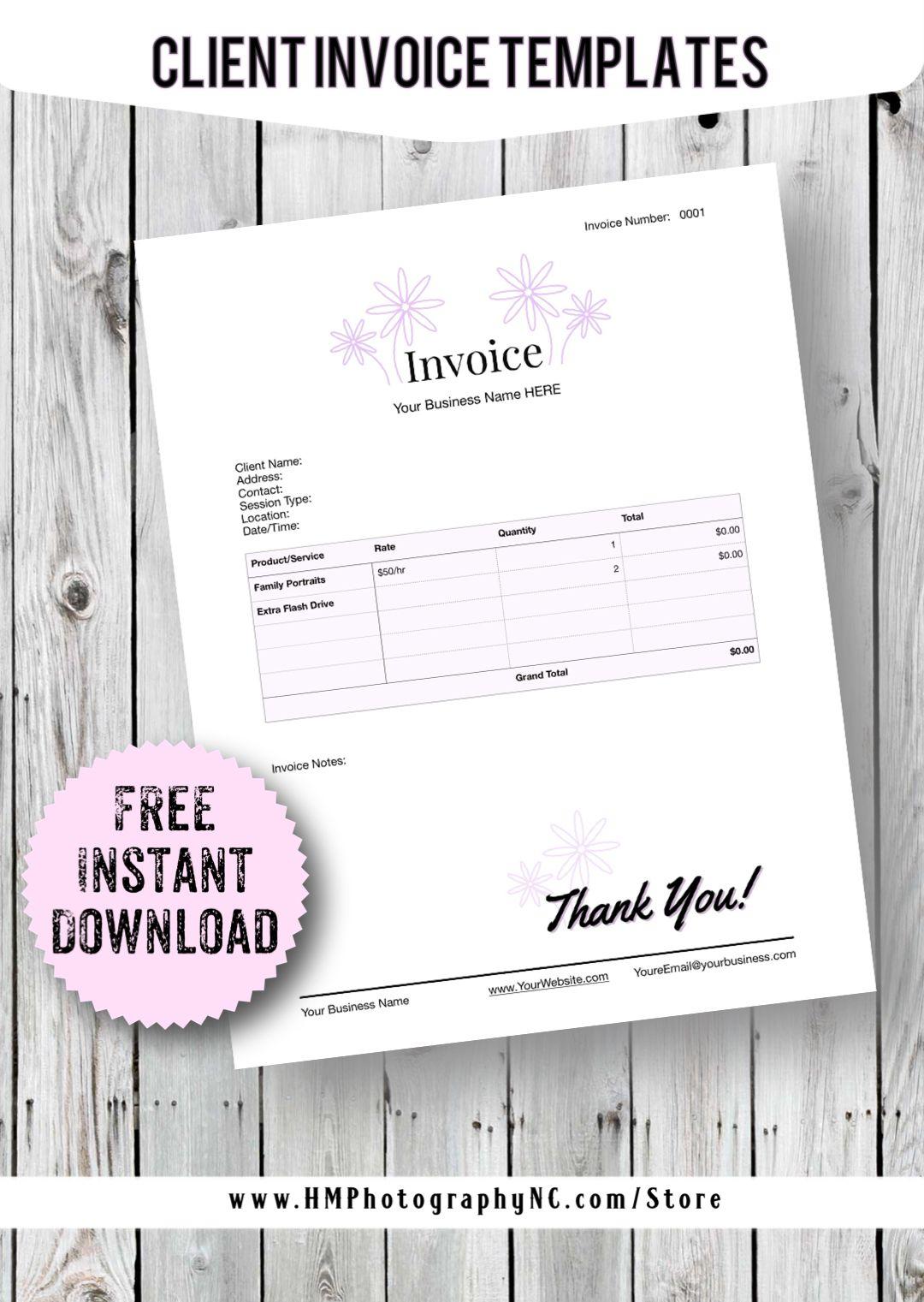 Free Download Client Invoice Receipt Templates Business Template Invoice Template Receipt Template