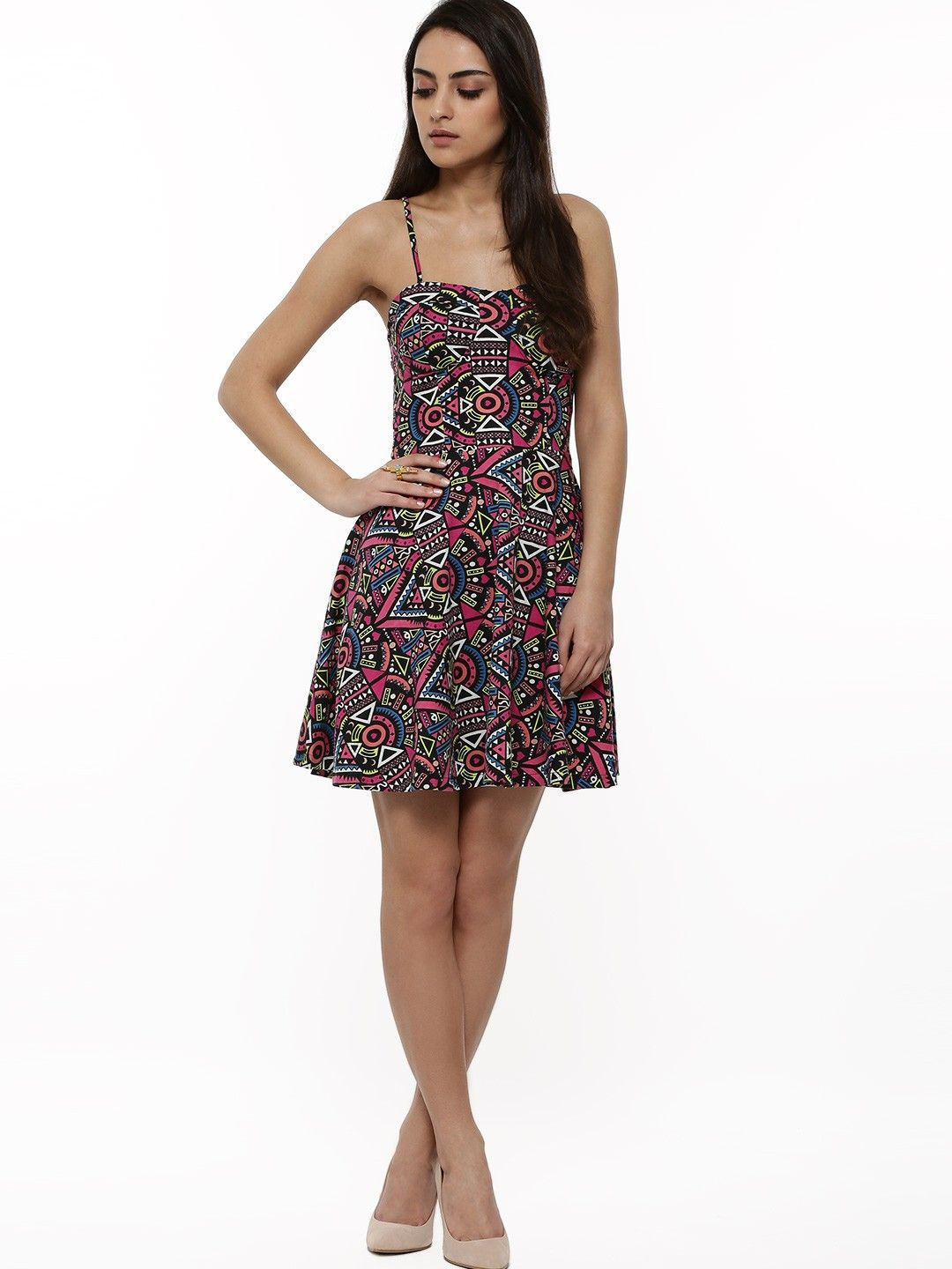 FABALLEY Aztec Print Strappy Dress - Buy Women s Skater Dresses online in  India  01120390a
