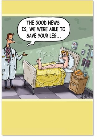 Save Your Leg Card Cartoon Jokes Funny Cartoon Pictures Funny Get Well Cards