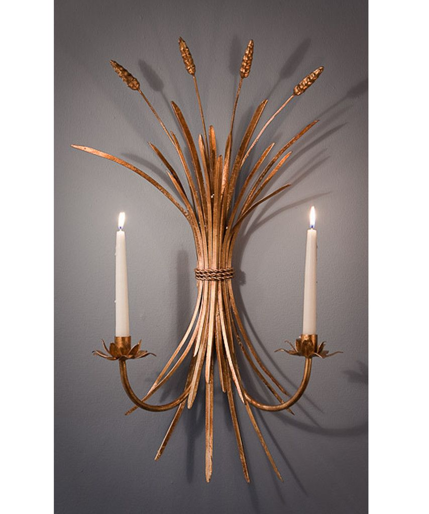 Wheat sheaf wall sconce candle holder highstreetmarket wheat sheaf wall sconce candle holder highstreetmarket amipublicfo Image collections