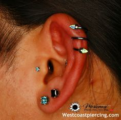 Cartilage Double Spiral Piercing Google Search