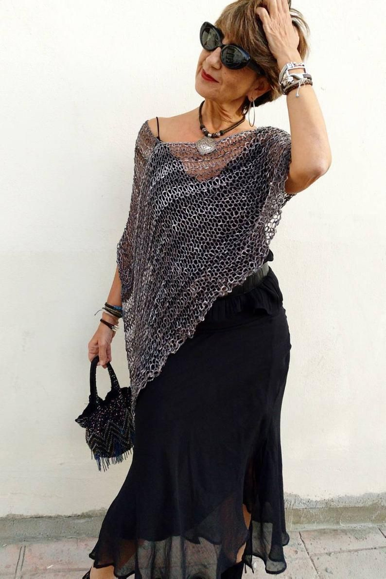 Gray Knit Wrapcotton Women Poncho Hand Knit Wrap Dress Etsymi Sugerencia Es Aplicar Un Acondicionador Sin Enjuag In 2020 Knit Wrap Dress Vegan Clothing Dress Cover