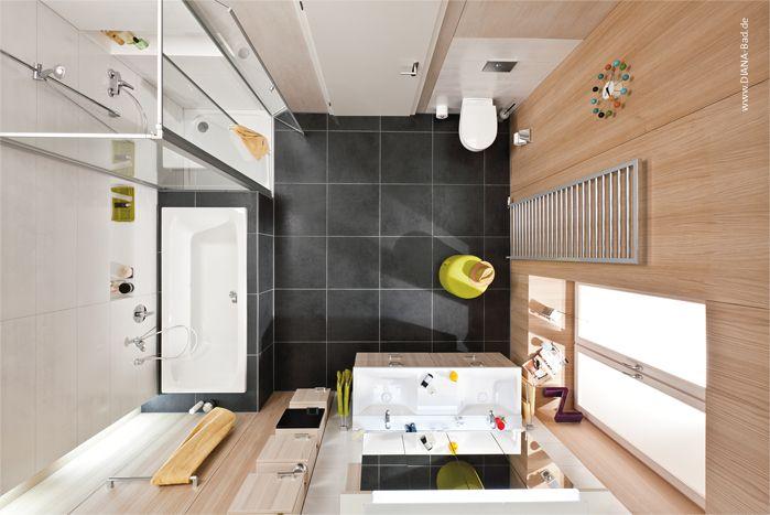 DIANA-Bad Familie von oben – nur 10 QM | Badezimmer Planung | Pinterest
