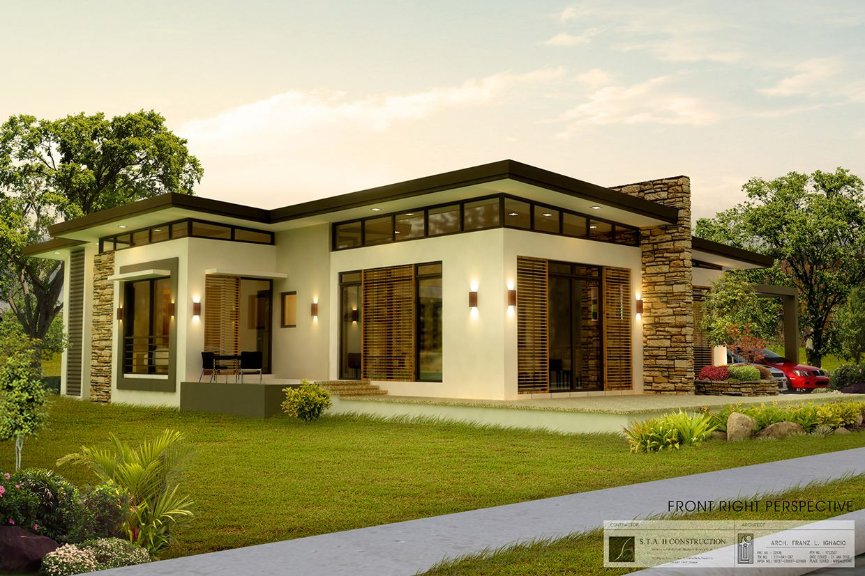comely platinum home designs. Contemporary Home Design in One Storey 2  House Elevation Single