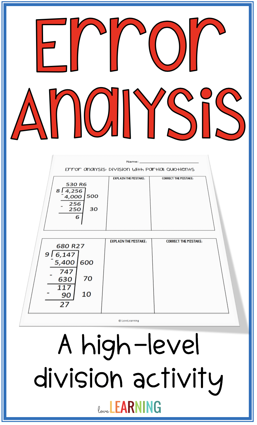 One of the best ways to increase student achievement in math is through  high level activities like error a…   Error analysis [ 1400 x 848 Pixel ]