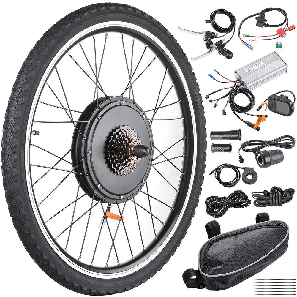 "New 26/"" 48V 1000W Electric Bike Hub Motor Brushless Engine Kit  Front//Rear Wheel"