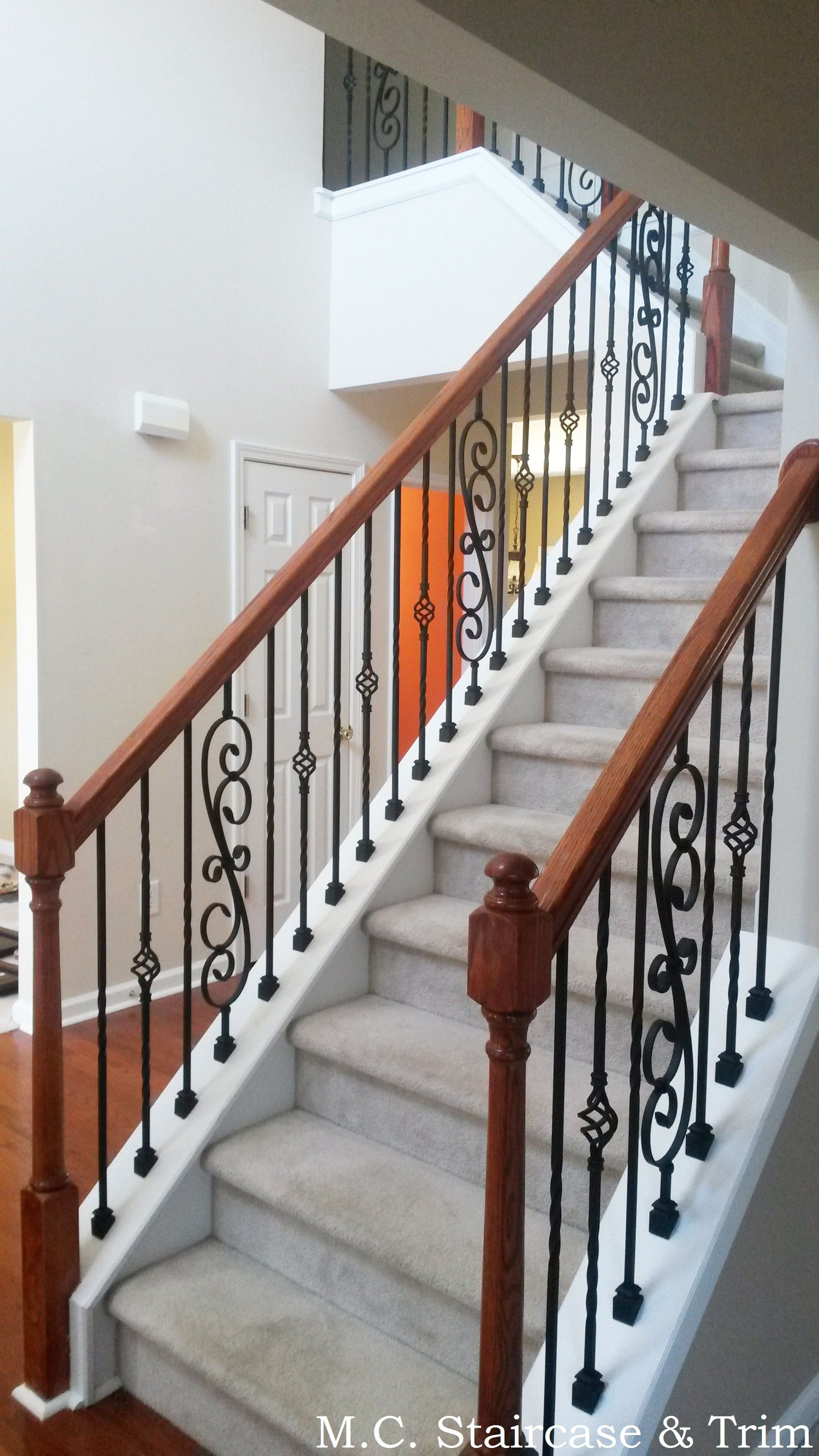 Best Iron Baluster Upgrade From M C Staircase Trim Removal 640 x 480