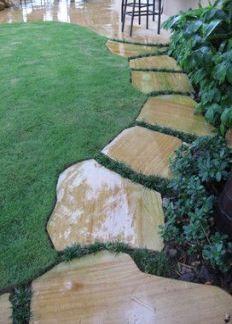 Photo of 47 Ideas Garden Path and Walkways Flagstone Pathway Yards #flagstonepathway 47 Id …