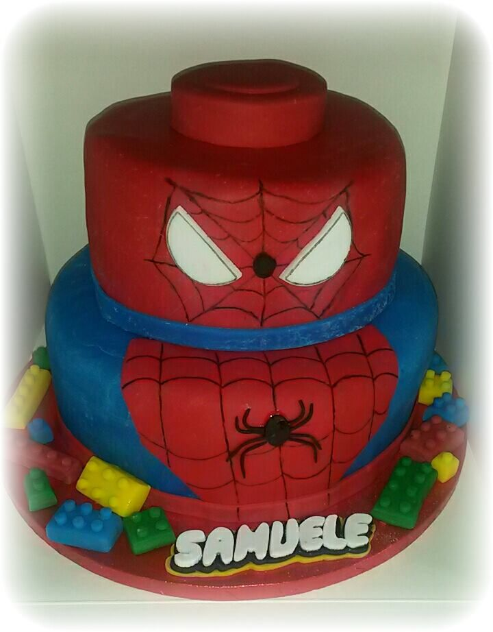 Spiderman Lego Cake cake ideas Pinterest Spiderman Cake