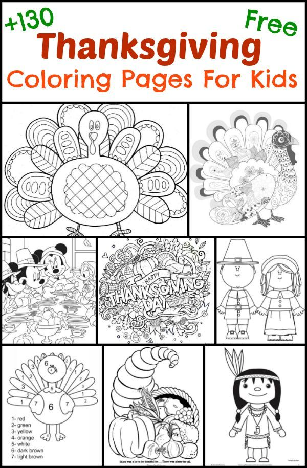 130 Thanksgiving Coloring Pages