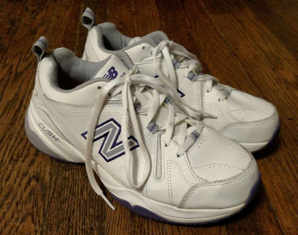 f372e176ab Women's New Balance 608 White/Gray/Blue Walking Shoes Size 8.5 D ...