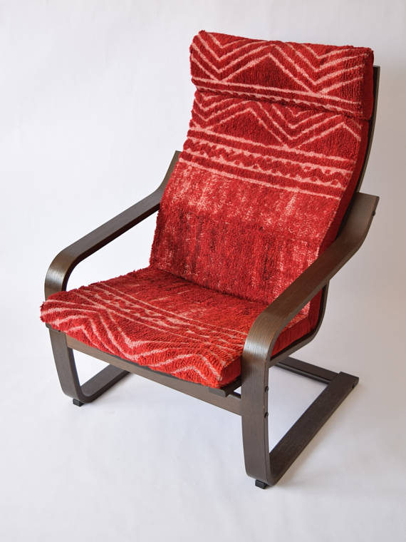 ikea poang chair cushion Ikea Poang Chair Cushion Kilim Rug Cover 023 in 2018 | Products  ikea poang chair cushion