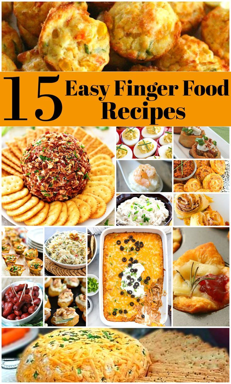 15 Easy To Make Finger Food Recipes Potluck dishes