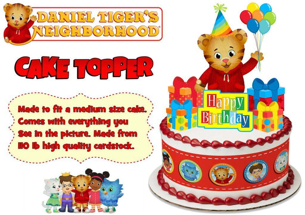 Daniel Tiger inspired cake topper Daniel Tiger Daniel tiger birthday custom cake topper