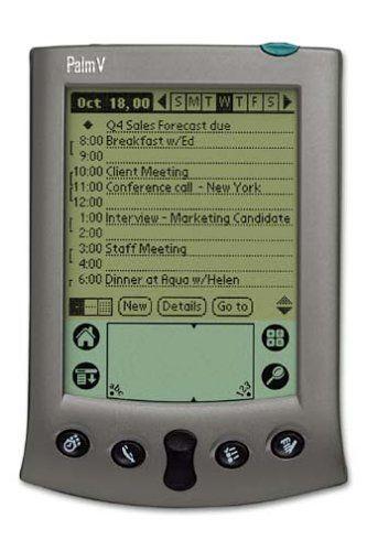 Palm V.Era la mejor agenda electrónica hasta que llegó Palm Treo y este es el comienzo de los Smart Phones....