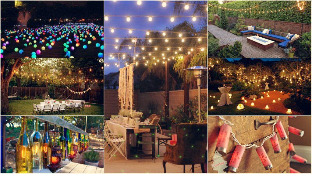 10 Diy Outdoor Party Lighting Ideas