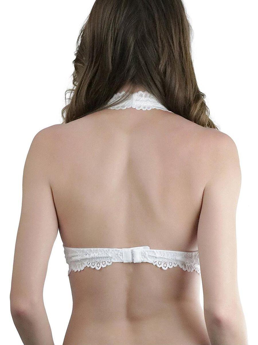 7ecda5e810 Deago Women s Halter Lace Bralette Bra Triangle Bralette Unpadded Bra Crop  Top Lingerie