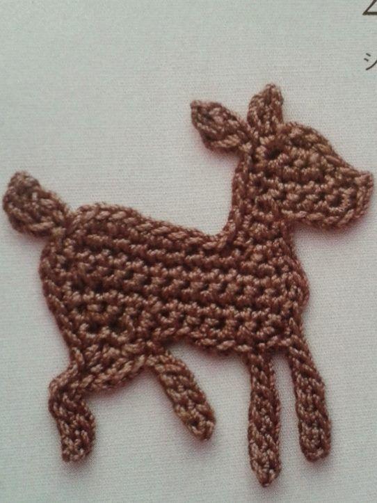 Free Deer Applique Diagram Crochetflowers Crochet Applique
