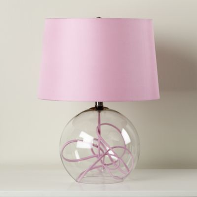 High Quality Kids Lighting: Pink Crystal Ball Table Lamp
