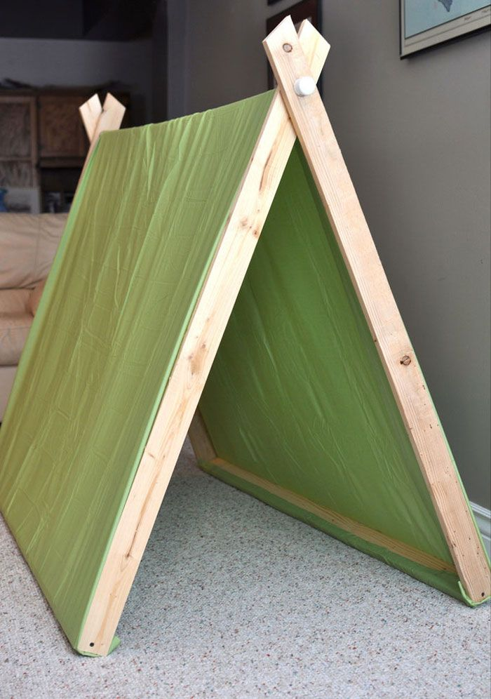 DIY indoor tent tutorial Lindsay u0026 Drew A-Frame Pup Tents & Would be neat for each child in the in home daycare to have one of ...