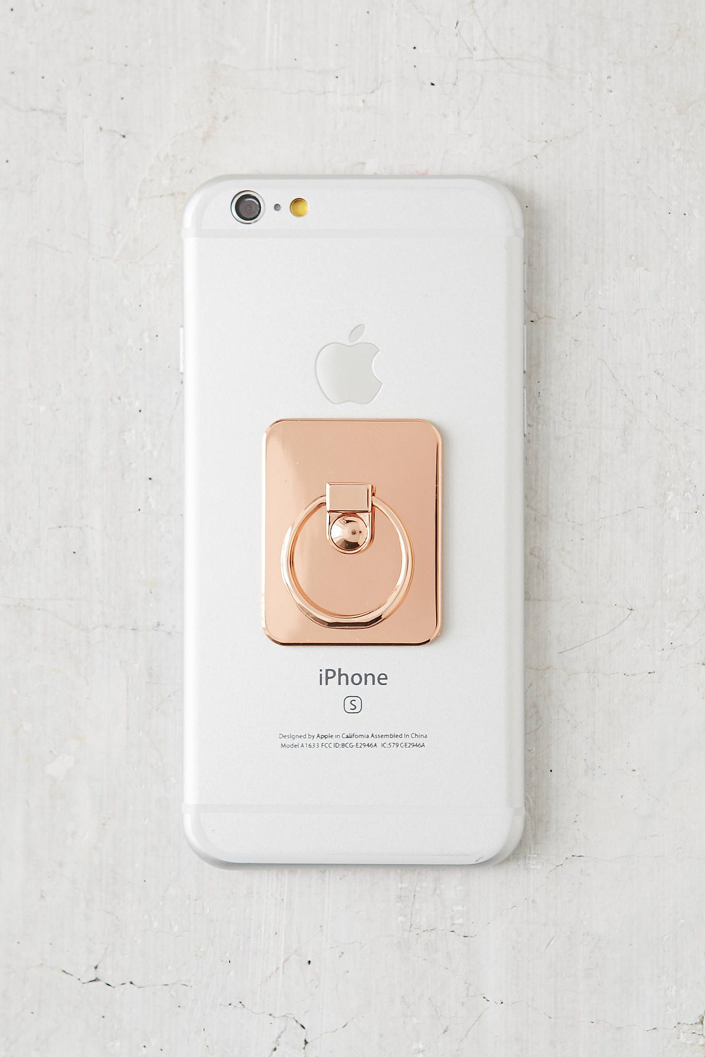 Slide View: 3: Rose Gold Ring Phone Stand