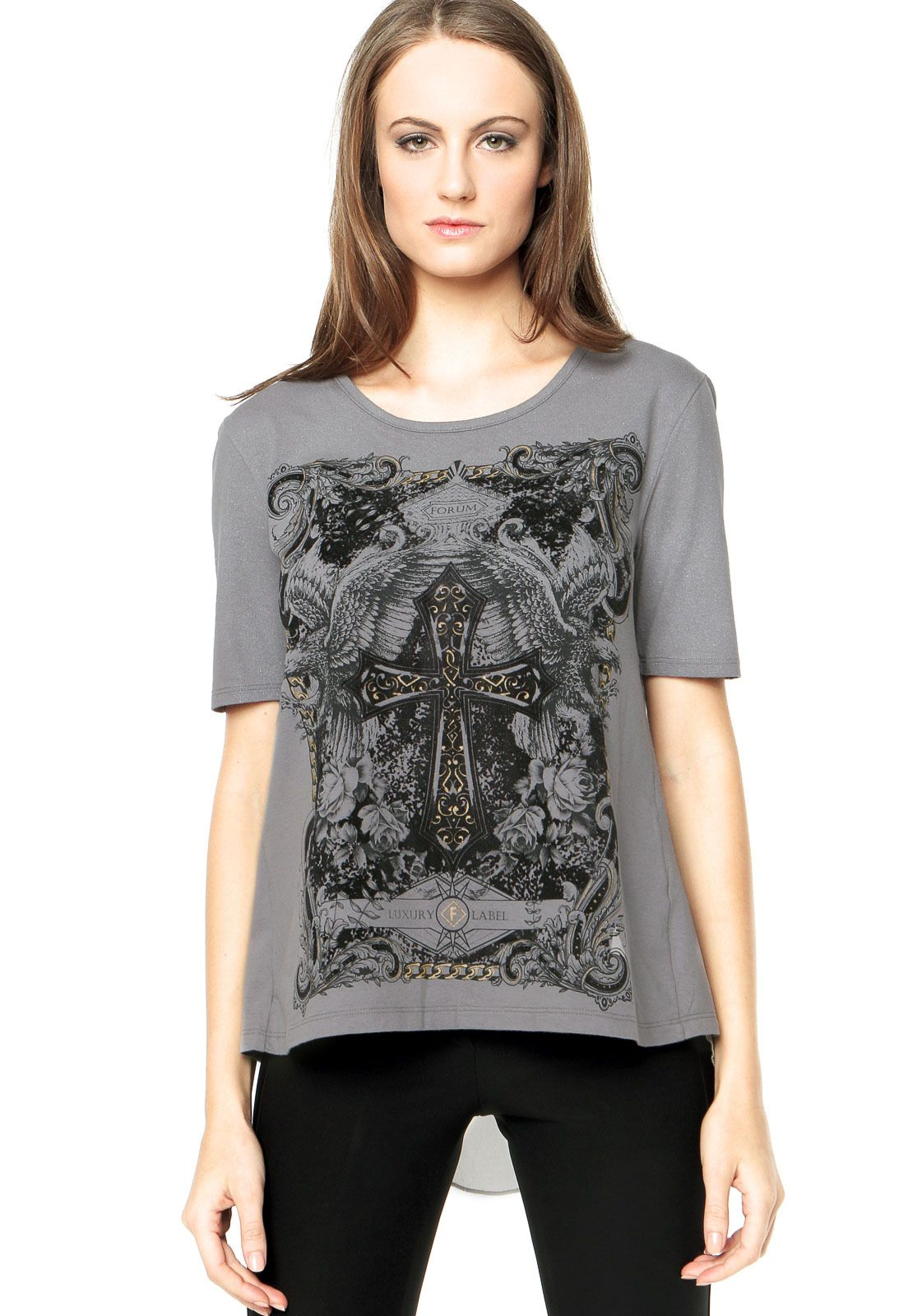 64ca11a6db3ba Camiseta Forum Cinza - Compre Agora