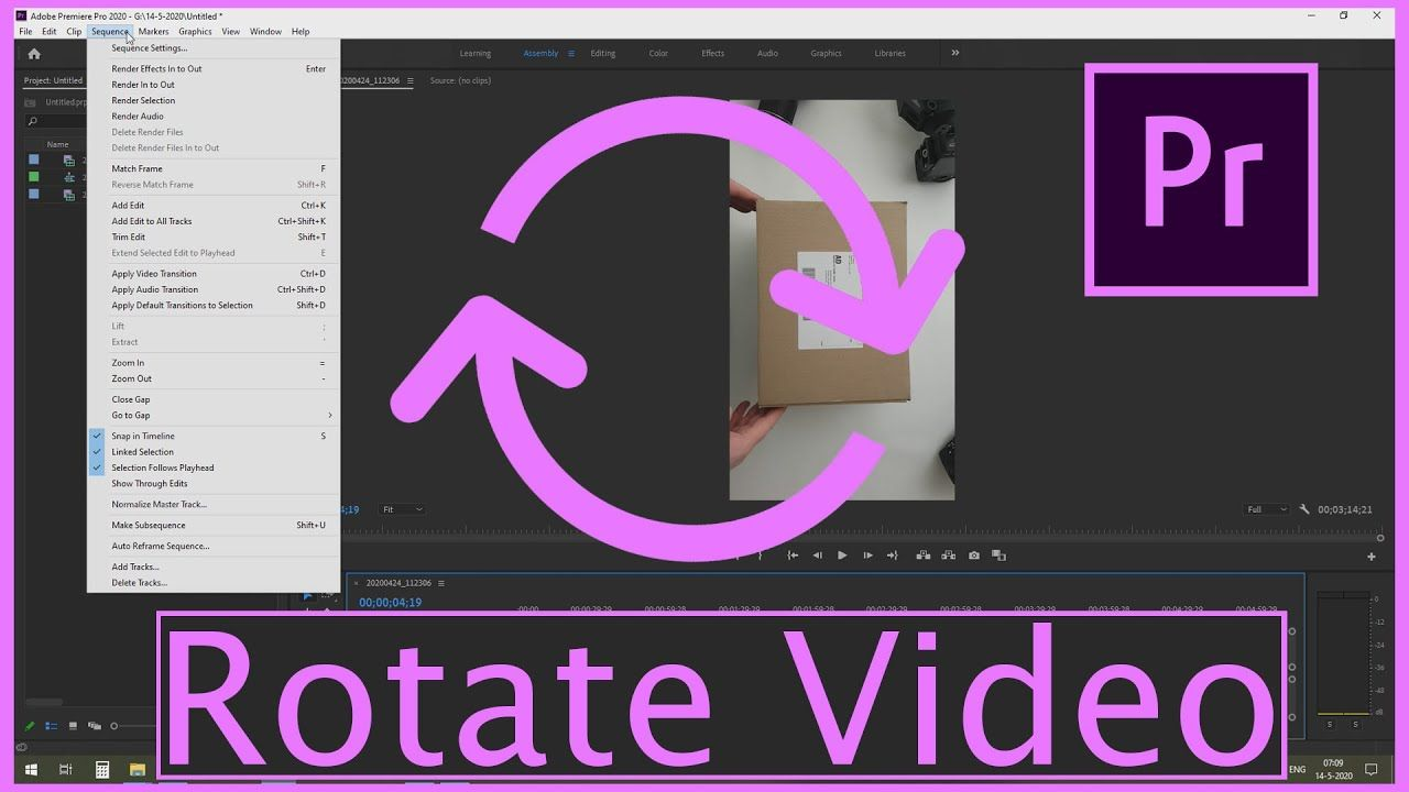 How To Rotate Video In Adobe Premiere Pro Adobe Premiere Pro Premiere Pro Video