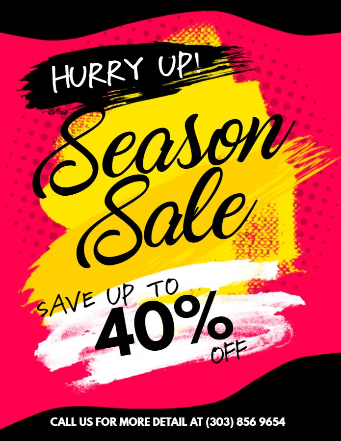 Season sale promotion flyer template Retail Flyer Templates