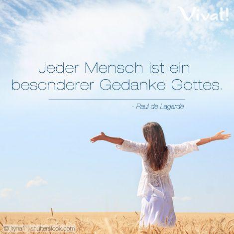 Jeder #Mensch ist ein besonderer #Gedanke Gottes | Deutsche Zitate