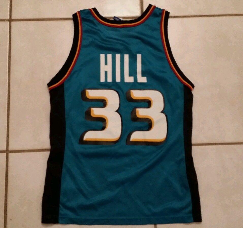 competitive price 3e036 15b4e CHAMPION Detroit Pistons Grant Hill NBA Jersey Men's Size 40 ...