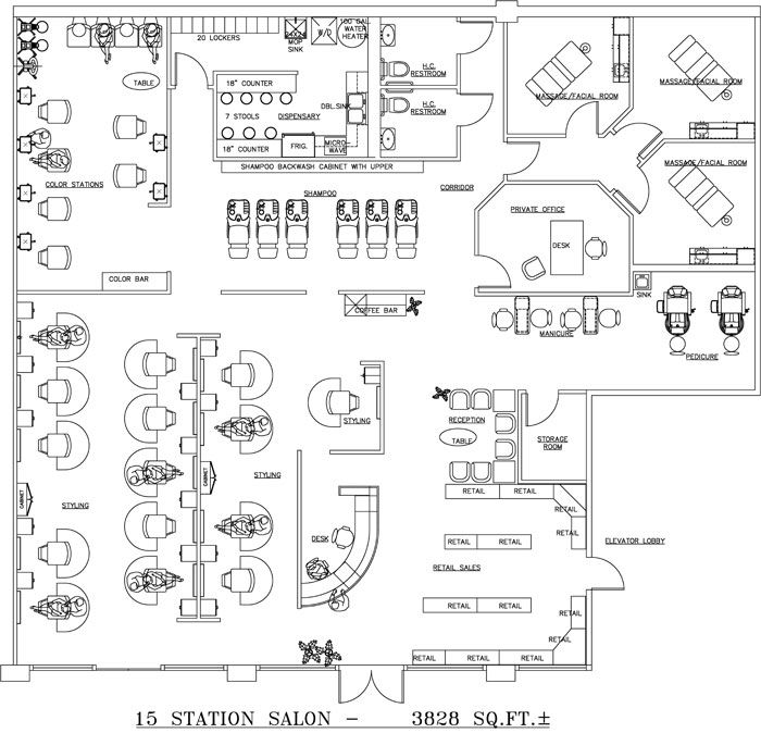 Beauty Salon Floor Plan Design Layout 3828 Square Foot Floor Plan Design Hair Salon Design Beauty Salon Design