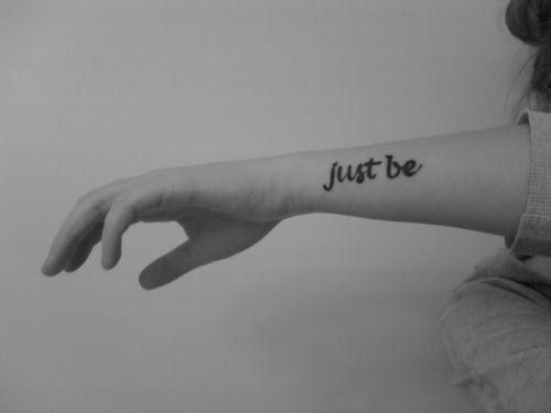 just be. #tattoo